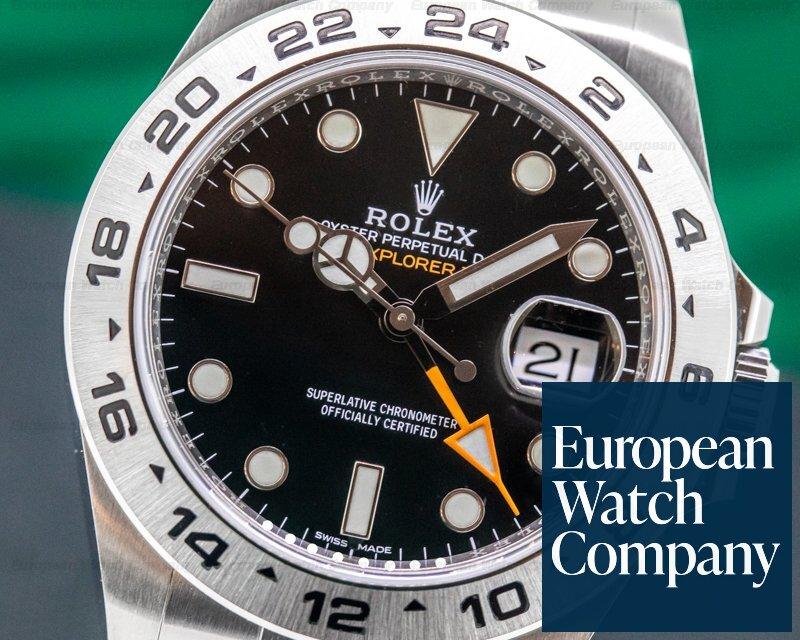 Rolex 216570 Explorer II Black Dial SS / FULL SET