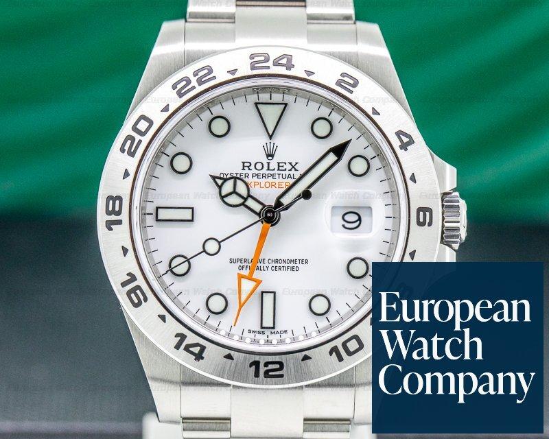 Rolex 216570 Explorer II White Dial SS 2019