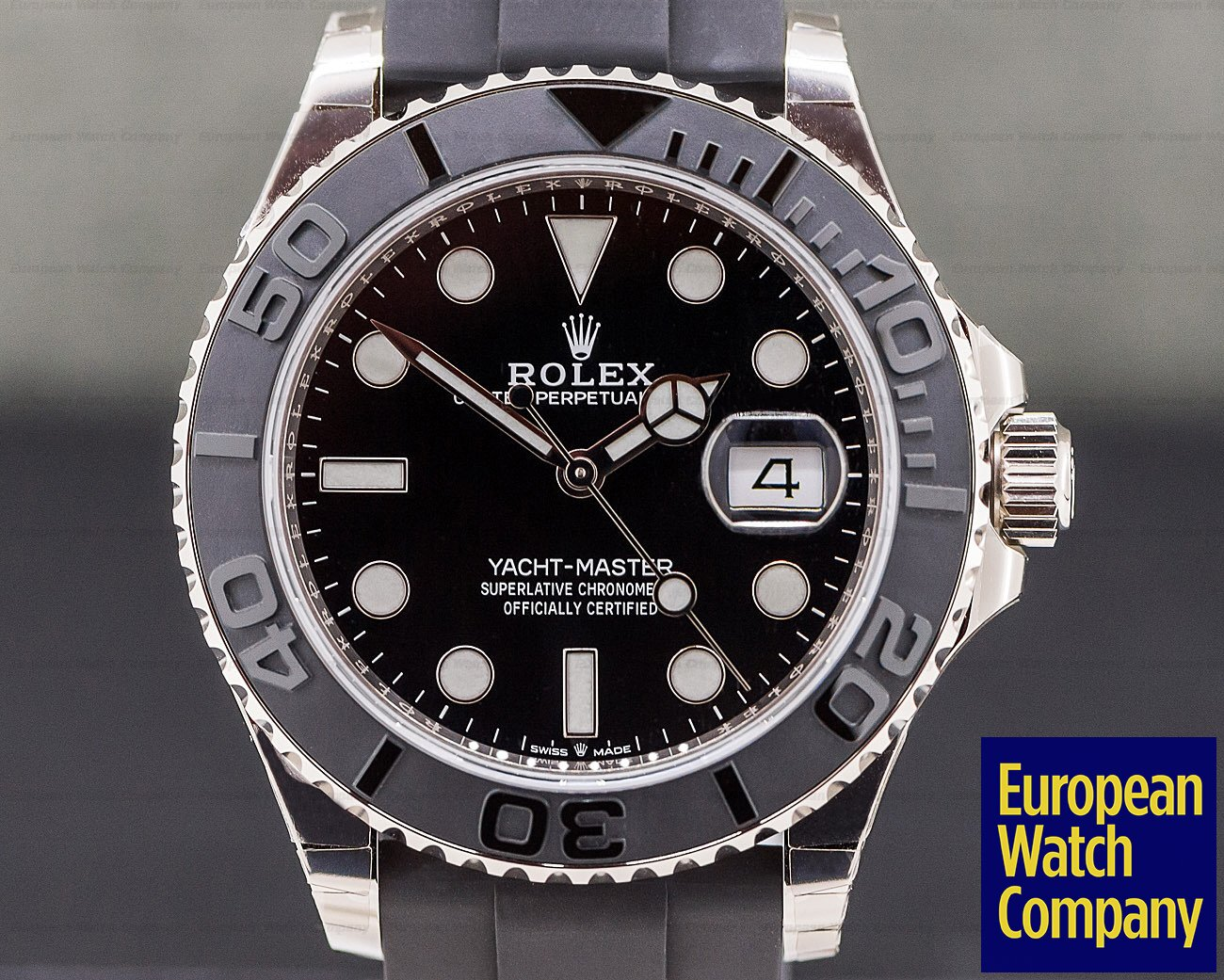 Rolex 226659 Yacht Master 18K White Gold / Rubber New 2019 Model UNWORN