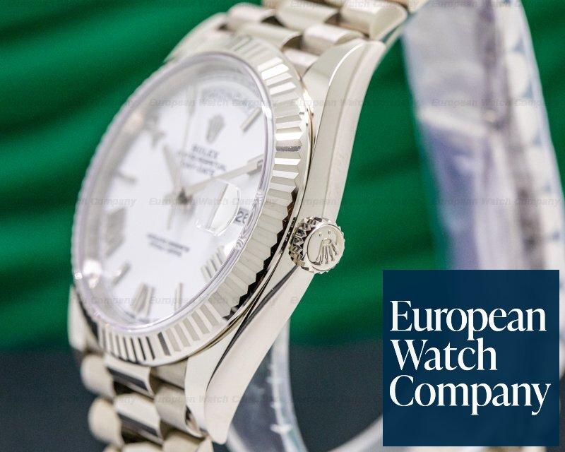 Rolex 228239 Day Date President 228239 18K White Gold White Dial 40MM