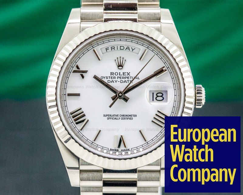 Rolex 228239 Day Date President 228239 18K White Gold White Dial 40MM
