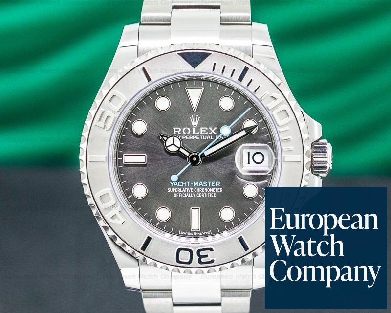 Rolex 268622 Yacht Master SS Rhodium Dial / Platinum Bezel Mid Size