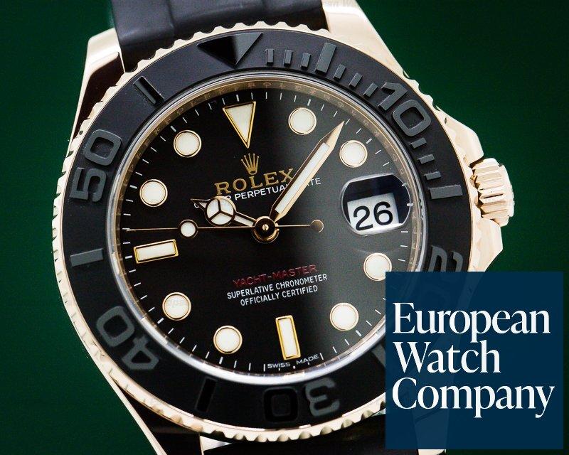 Rolex 268655 Yacht Master 18K Rose Gold / Rubber MIDSIZE