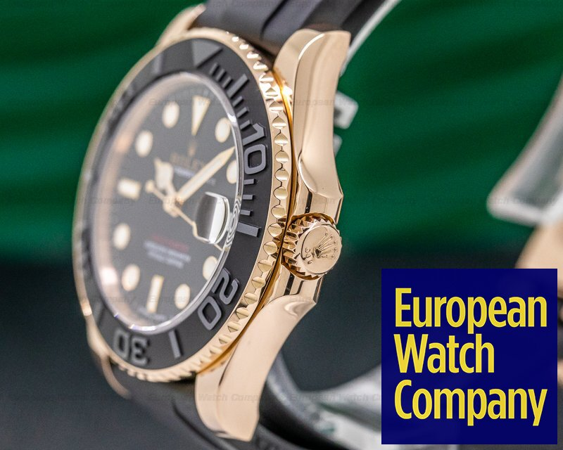 Rolex 268655 Yacht Master 18K Rose Gold / Rubber MIDSIZE 37MM