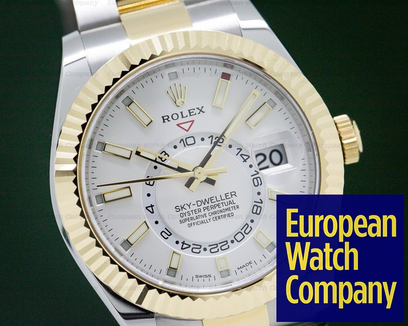 Rolex 326933 Sky Dweller Steel & Yellow Gold White Dial UNWORN
