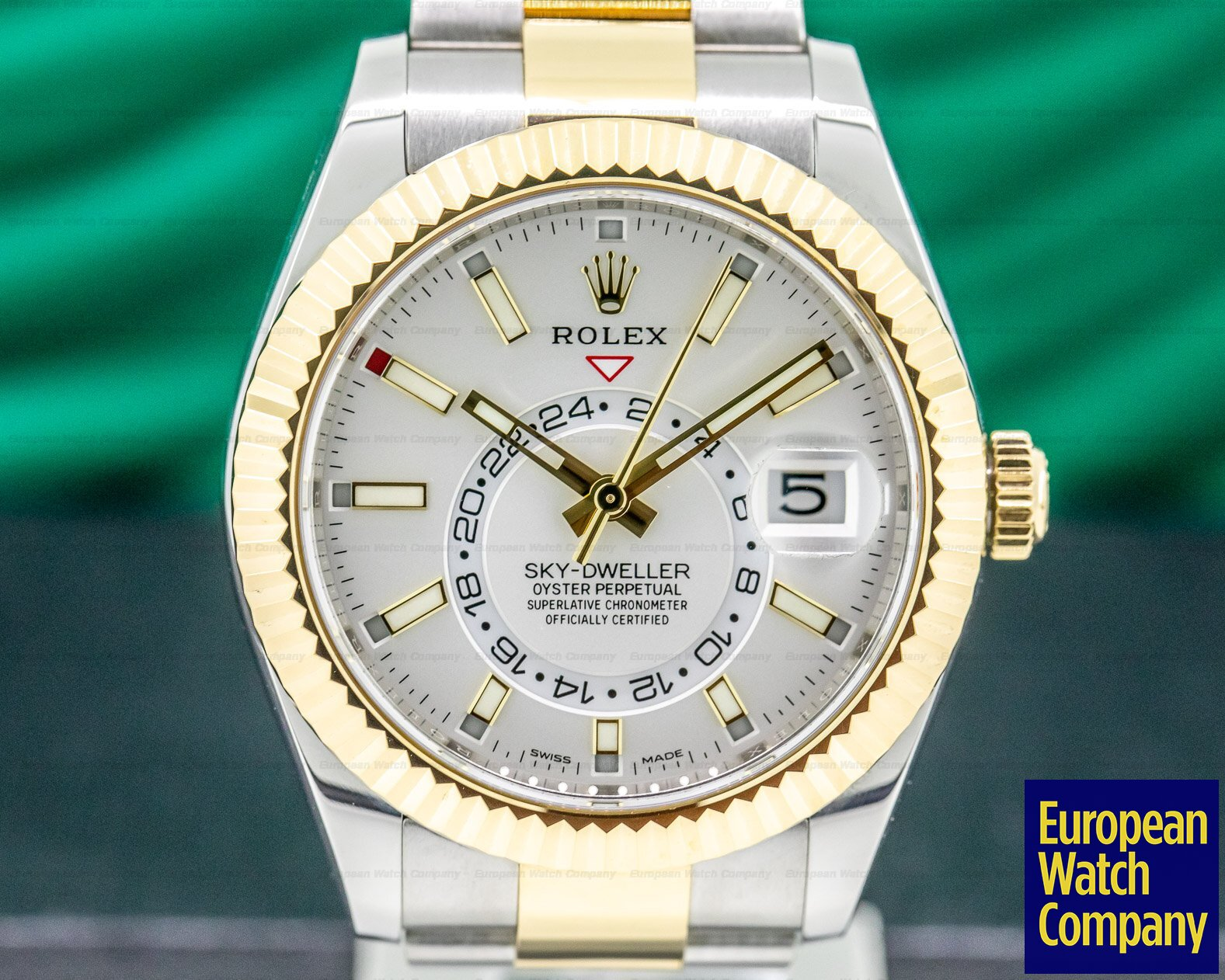 Rolex 326933 Sky Dweller Steel & Yellow Gold White Dial