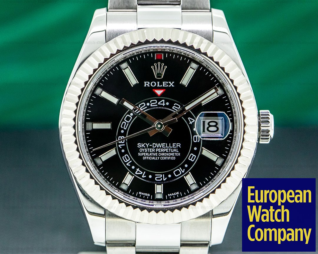 Rolex Sky Dweller 326934 Steel Black Dial Ref. 326934