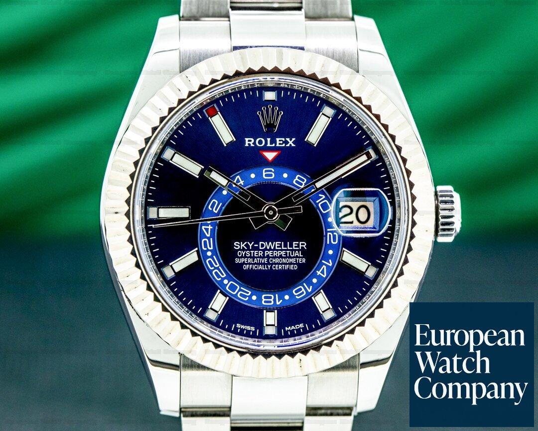 Rolex Sky Dweller 326934 Steel Blue SS / Bracelet Ref. 326934