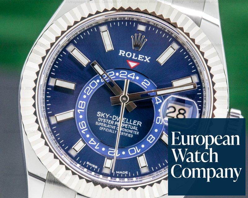 Rolex 326934 Sky Dweller 326934 Steel Blue SS UNWORN