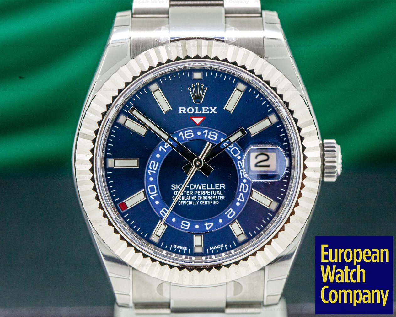 Rolex 326934 Sky Dweller Steel Blue SS / SS UNWORN & STICKERED