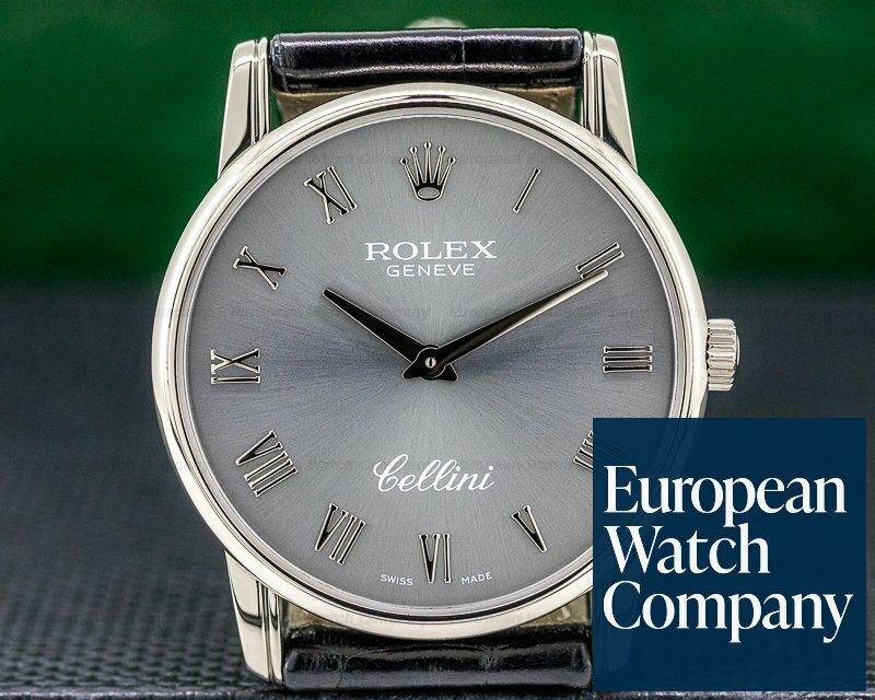 Rolex 5116/9 Cellini 18K White Gold Grey Dial