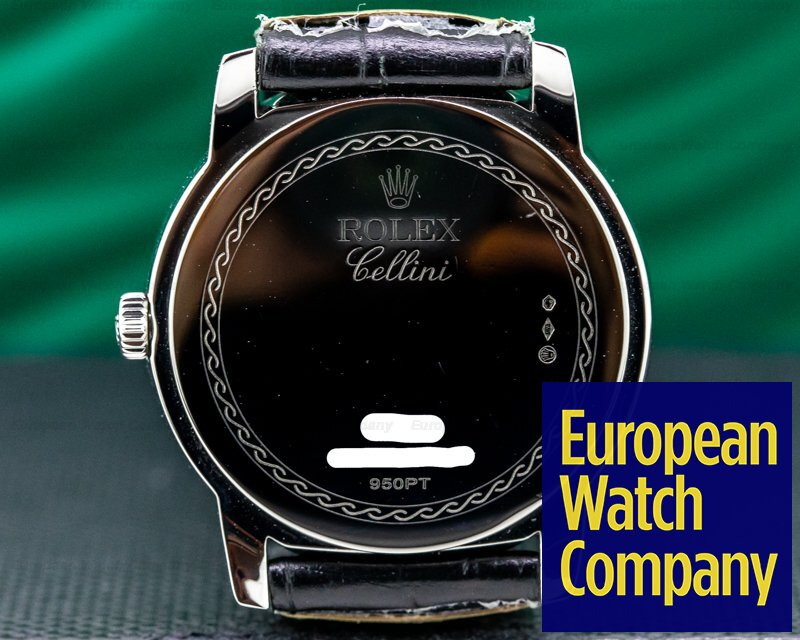Rolex 5241 Cellinium Platinum Black Dial 38MM
