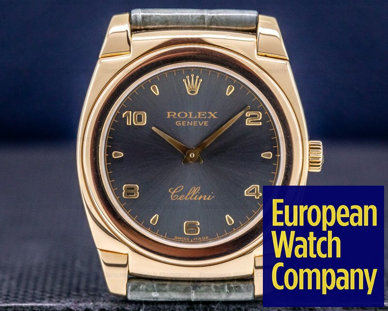 Rolex 5330/5 Cellini Cestello 18K Rose Gold / Grey Dial