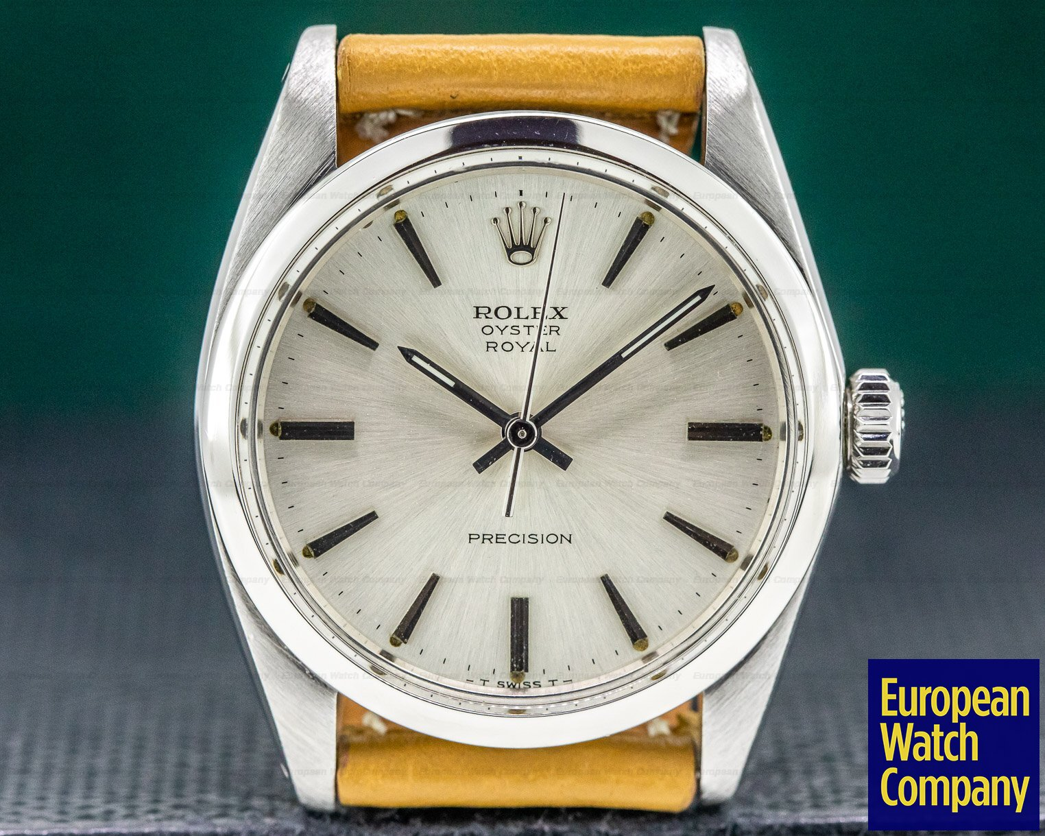 Rolex 6426 Oyster Precision Royal SS Silver Dial 34MM