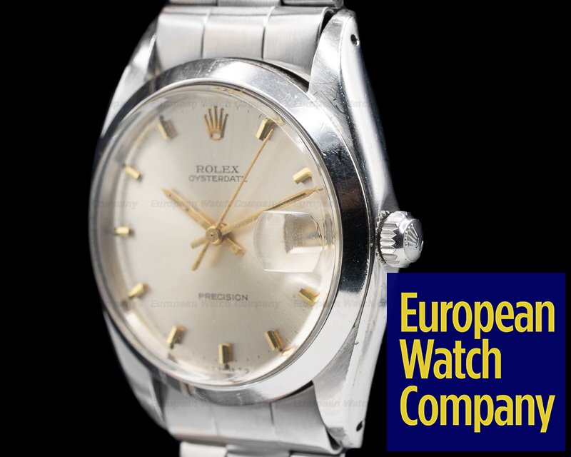Rolex 6694 Oyster Date SS Silver Dial Bracelet c. 1966