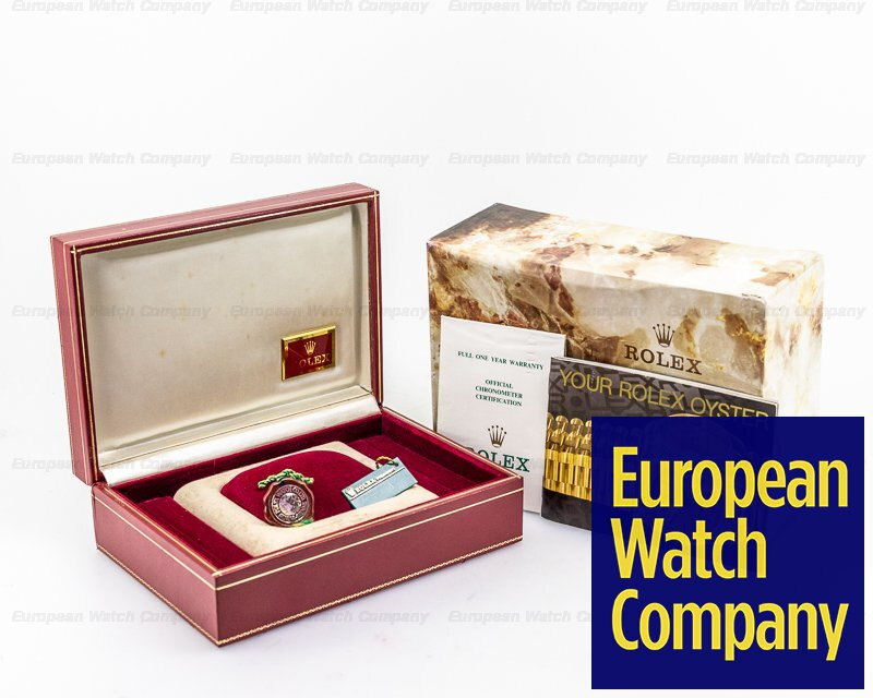 Rolex 69178 Ladies Oyster Date President Gold Dial 18K Yellow Gold
