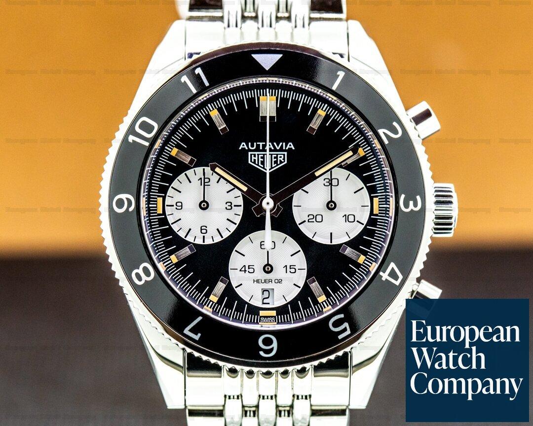 TAG Heuer Autavia Heritage Chronograph SS/Strap Panda Dial Ref. CBE2110
