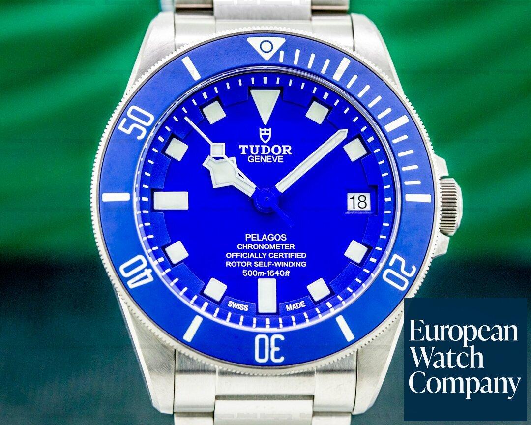Tudor 25600TB  Pelagos Blue Dial In-House Caliber Titanium