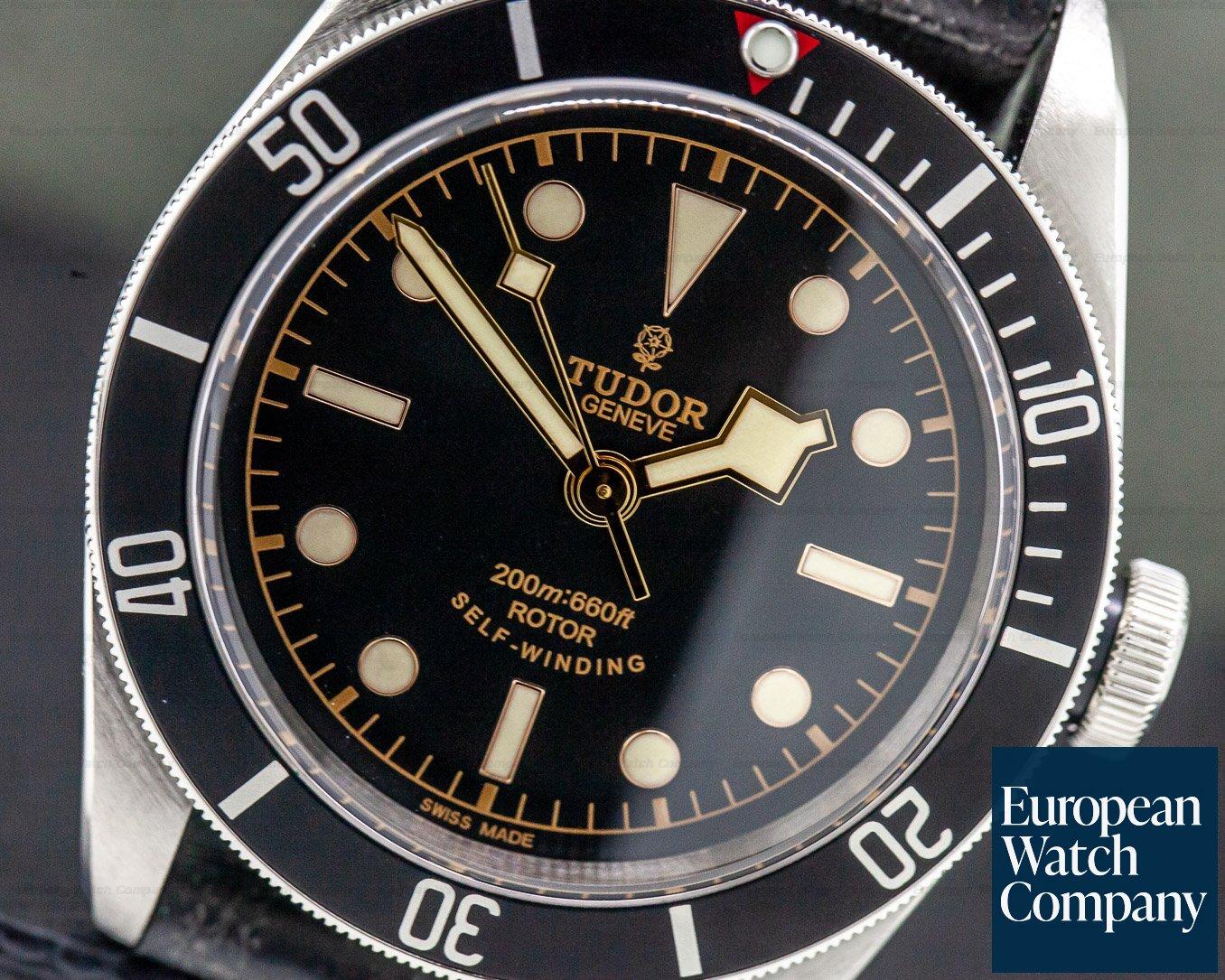 Tudor 79220N Tudor Heritage Black Bay BLACK SS / Leather