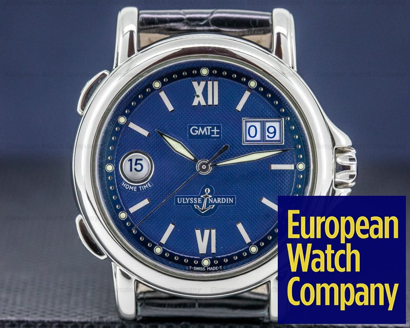 Ulysse Nardin 223-88 San Marco Big Date GMT +/- Blue Dial SS