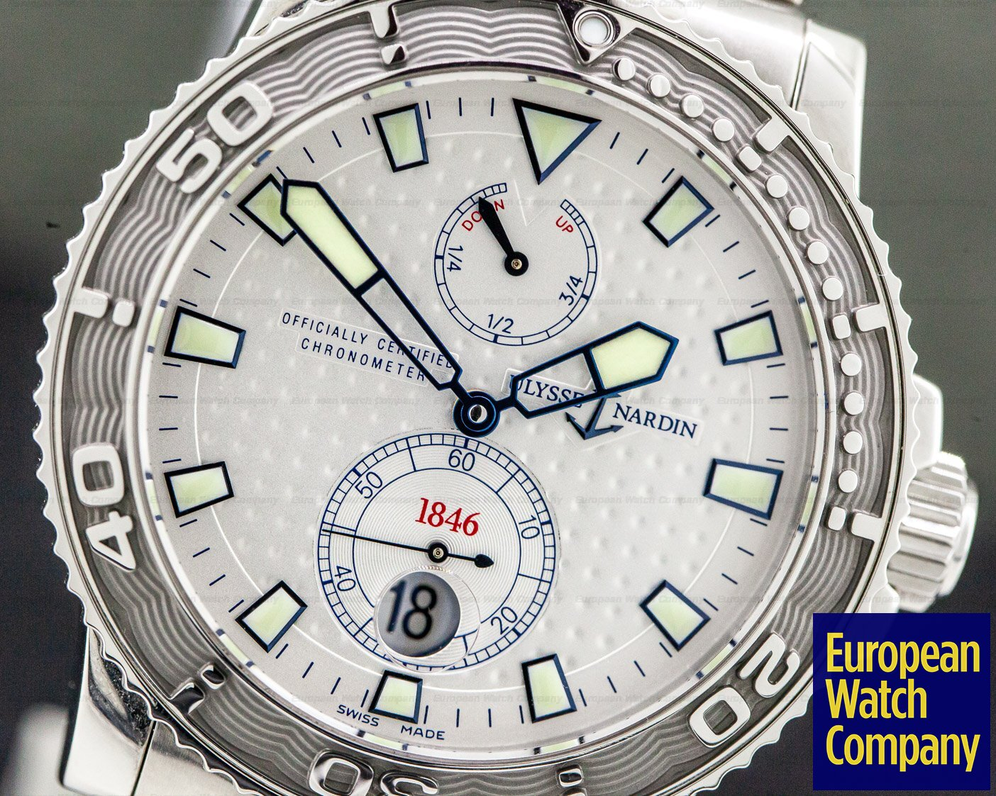 Ulysse Nardin 263-33-7 263-33-7 Maxi Marine 1846 Diver Silver Dial SS