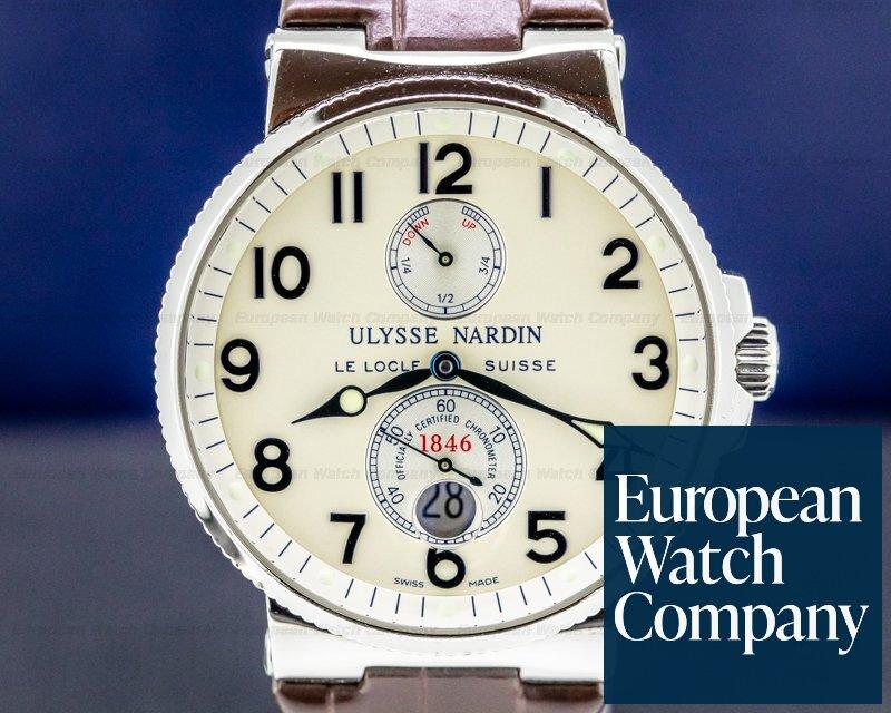 Ulysse Nardin 263-66 Maxi Marine Stainless / Leather