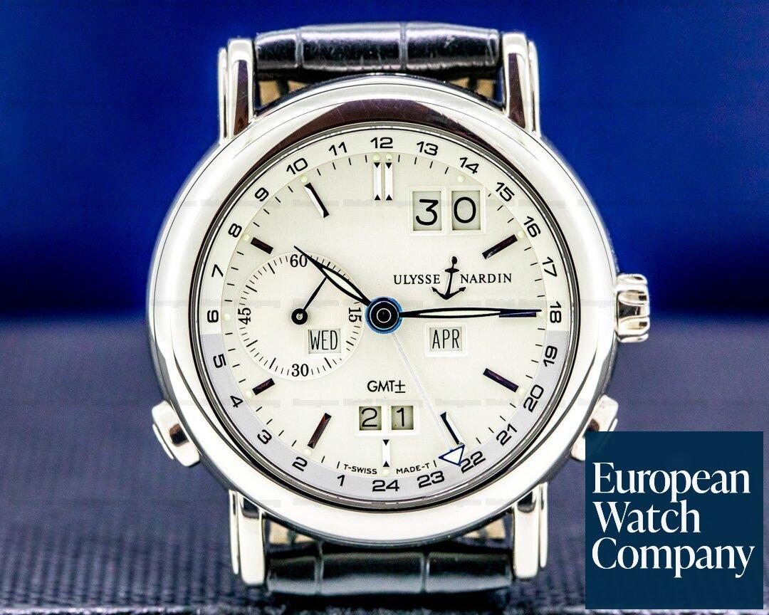 Ulysse Nardin GMT Perpetual Calendar 18K White Gold 38MM Ref. 320-22/31