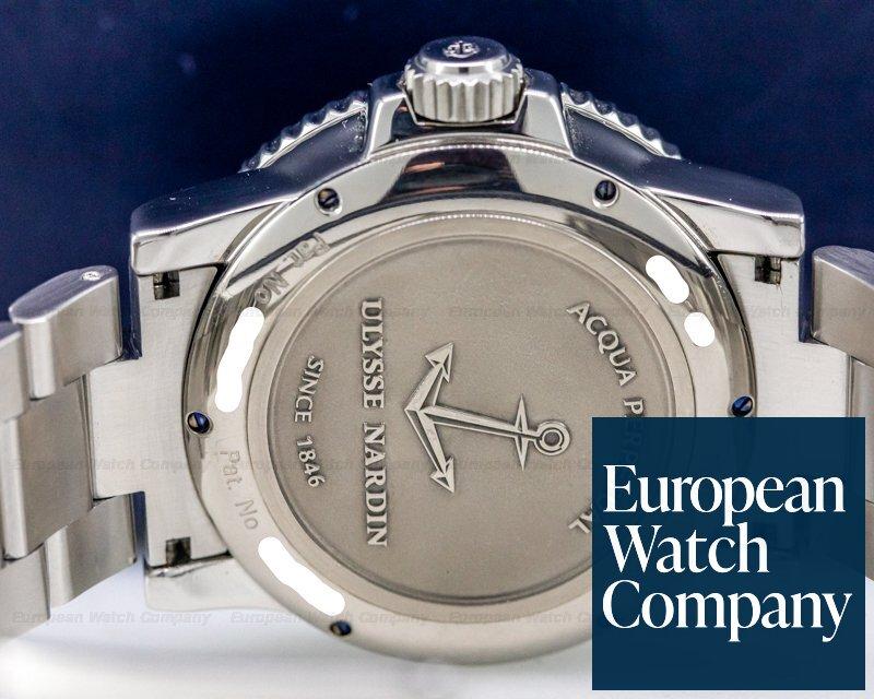 Ulysse Nardin 333-55-3/92 Marine Acqua Perpetual SS Black Dial