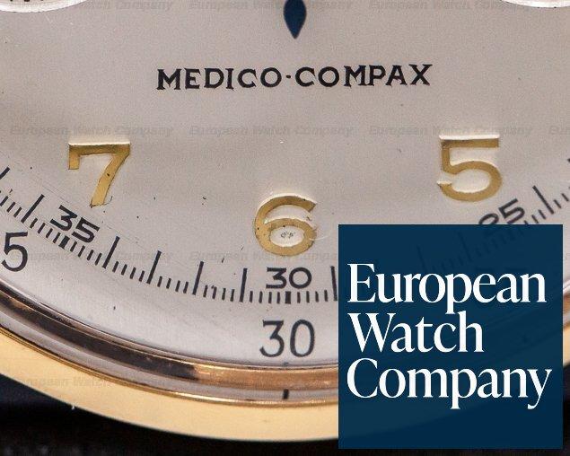 Universal Geneve 124103 Vintage Medico Compax 18K Rose Gold NICE