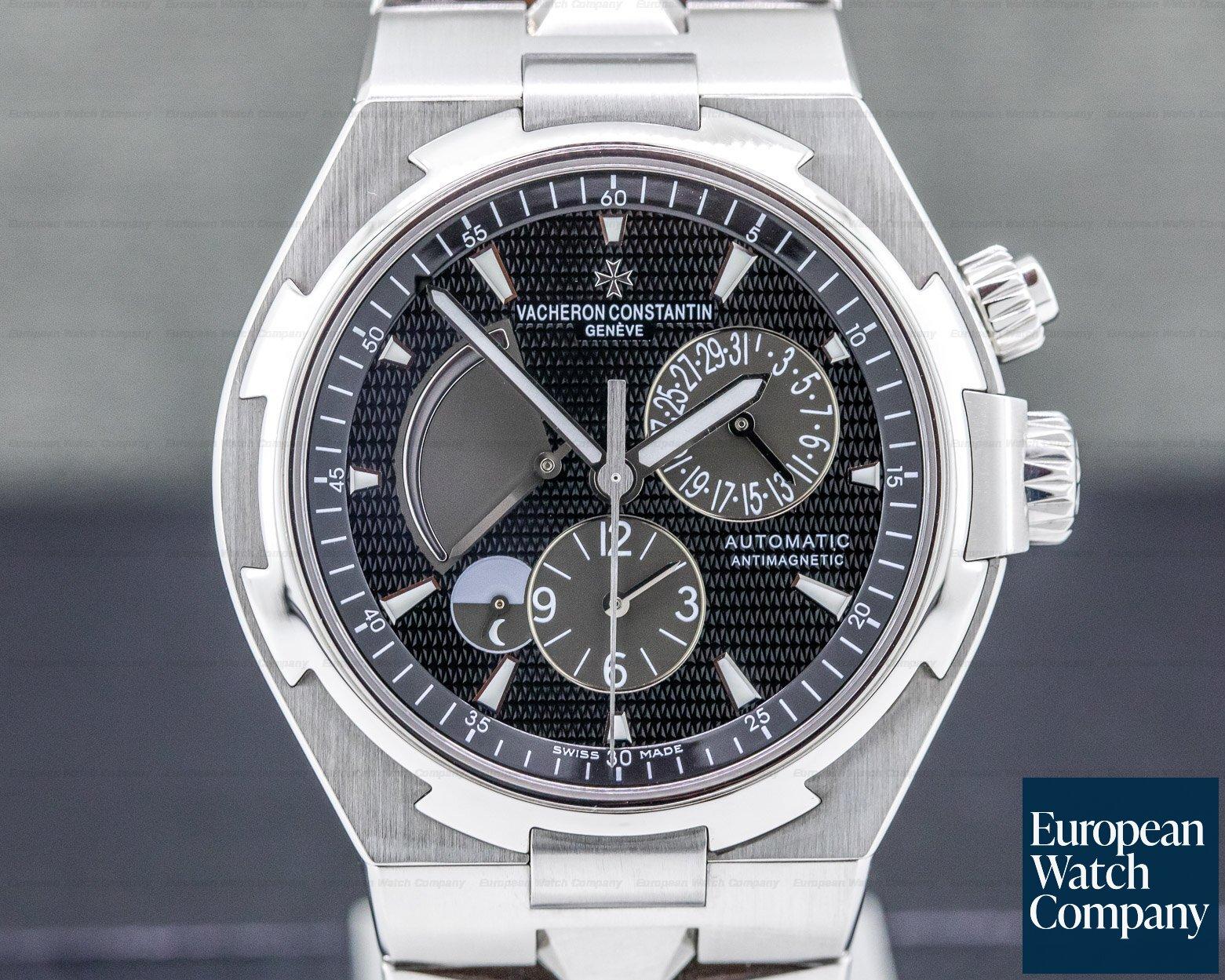 Vacheron Constantin 47450-B01A-9227 Overseas Dual Time SS/SS Black Dial