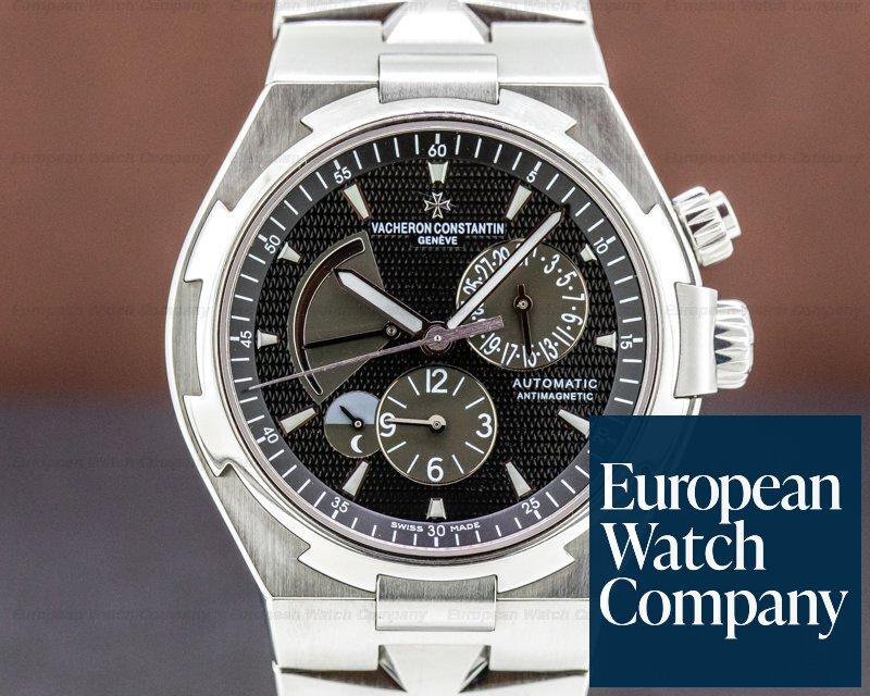 Vacheron Constantin 47450-B01A Overseas 47450 Dual Time SS Black Dial