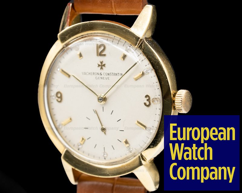 Vacheron Constantin 4912 Vintage Manual 18K Yellow Gold Fancy Lugs with Diamond markers