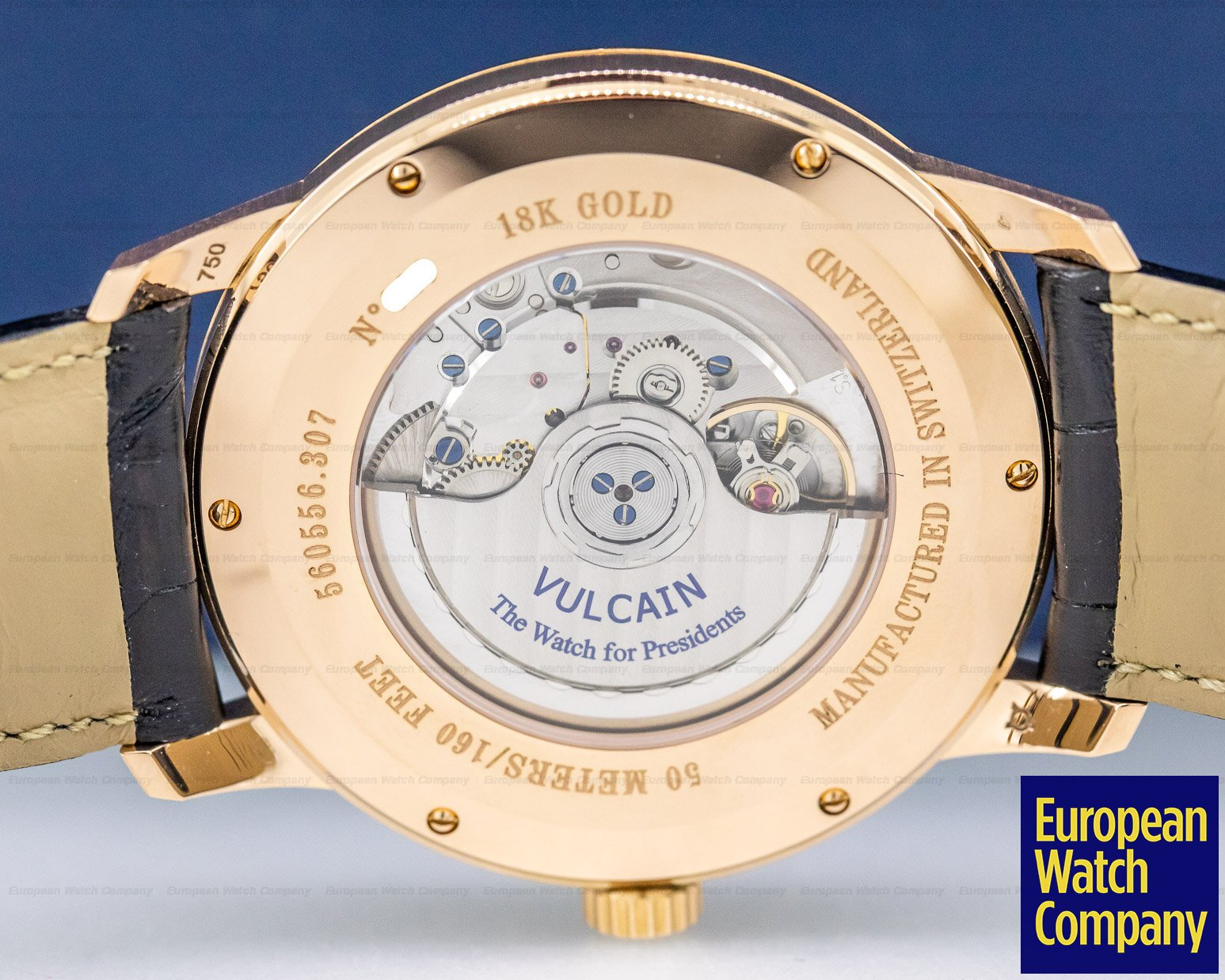 Vulcain 560556.307L 50's President Rose Gold Silver Dial 42MM