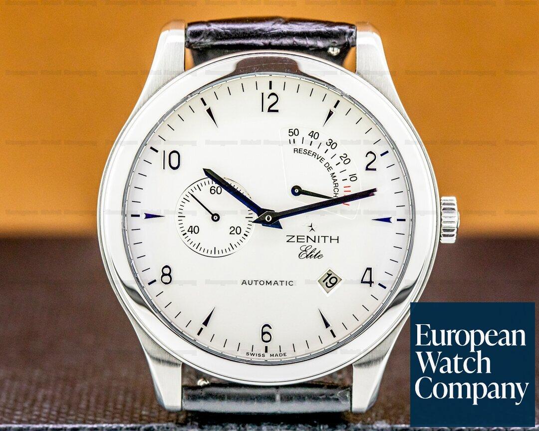 Zenith Grande Elite Power Reserve SS Silver Dial Ref. 03.0520.6850