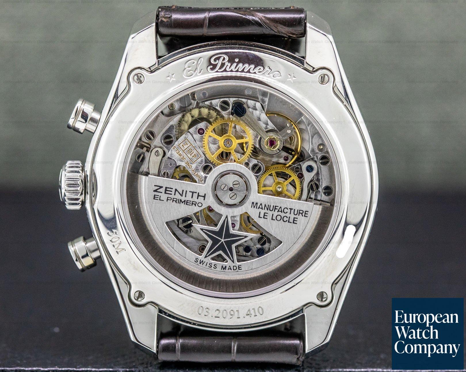 Zenith 03.2091.410/01.C494 El Primero 410 Annual Calendar Silver Dial