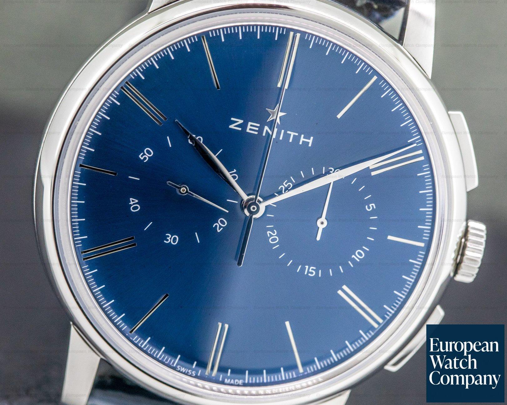 Zenith 03.2272.4069/51.C700 Elite Chronograph Classic SS Blue Dial 42MM