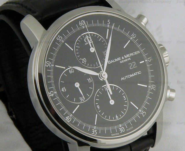 european watch company baume mercier classima xl auto chrono. Black Bedroom Furniture Sets. Home Design Ideas