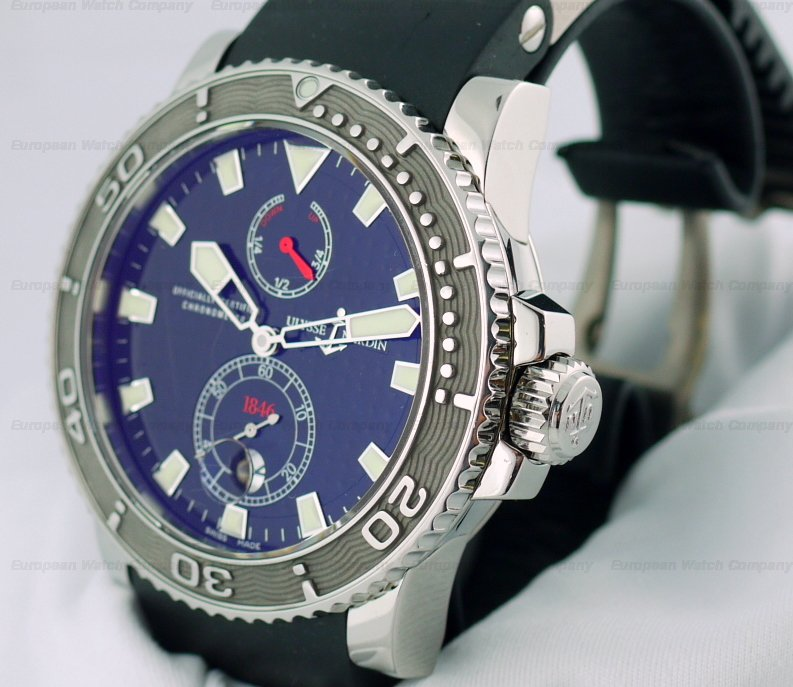 european company ulysse nardin marine maxi diver ss rubber