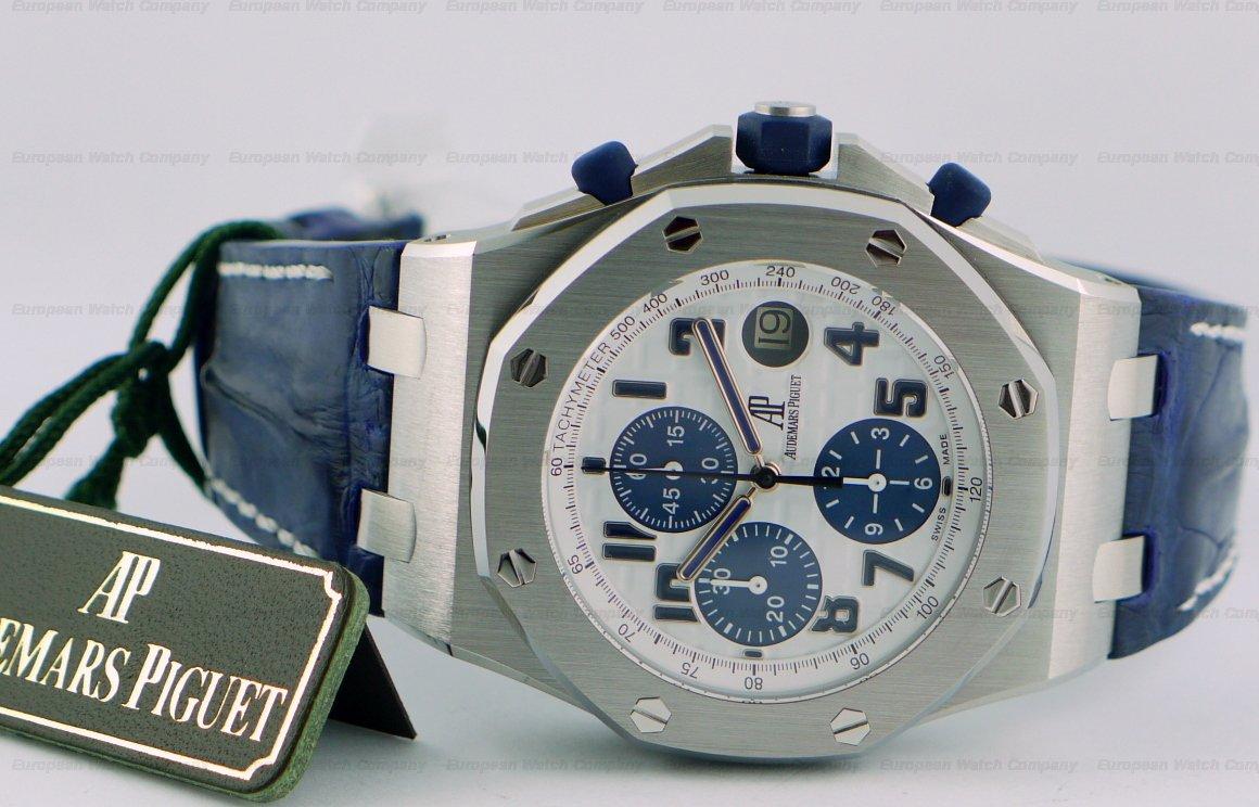 European watch company audemars piguet royal oak offshore navy for Royal oak offshore navy
