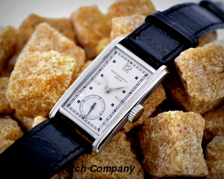 Patek Philippe  Tank w/ Faceted Crystal