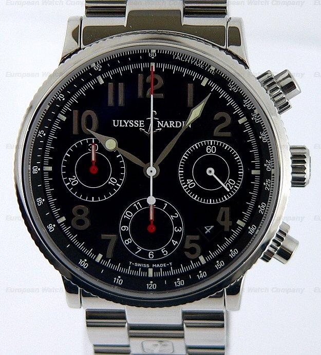 european company ulysse nardin marine chronograph steel