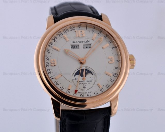 Blancpain Complete Calnedar Moon 18K Rose Gold Half Hunter 38MMRef. No. 3563A-3642