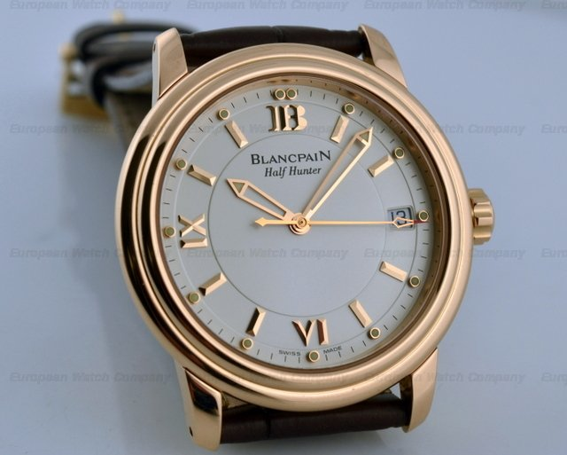 Blancpain Leman Half-Hunter 18K Rose Gold LIMITED 38MMRef. No. 3100-3642-53