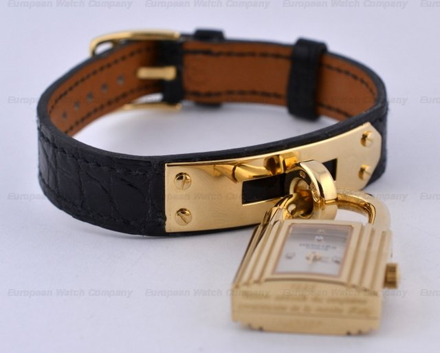 hermes kelly watch gold