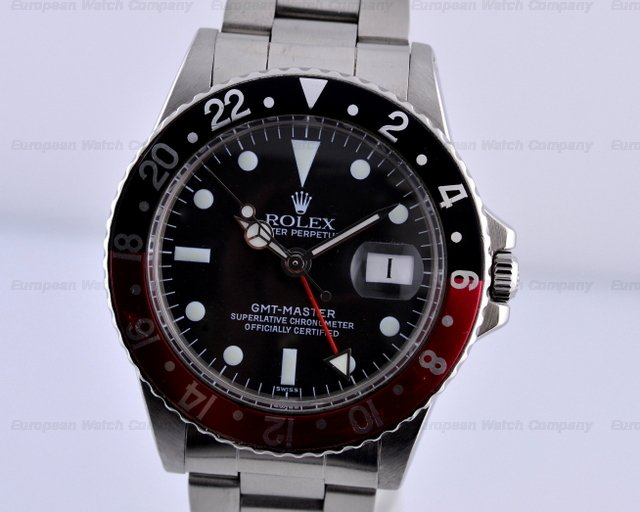 Rolex GMT Master II SS Red / Black Coke Bezel W Series (1995)Ref. No. 16710
