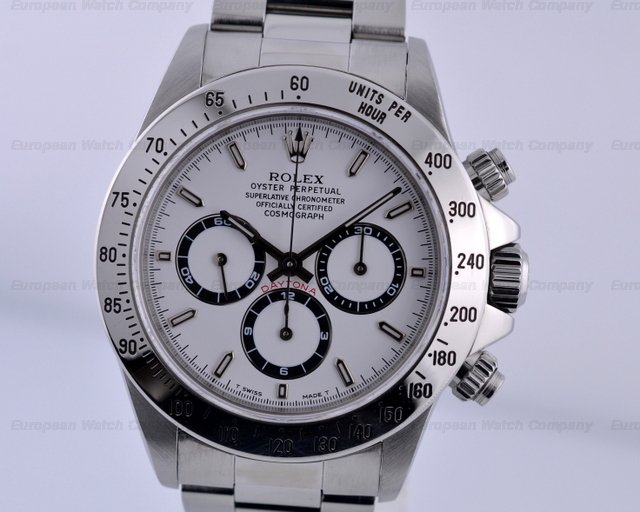 Rolex Daytona SS White Dial Zenith Movement U Series (1997)Ref. No. 16520