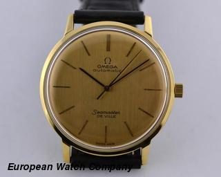Omega Seamaster De Ville 14K Yellow Gold Automatic 34MM