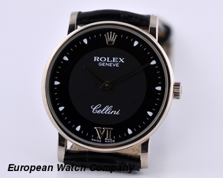 Rolex Cellini 18K WG Black Dial