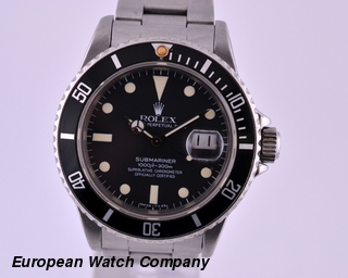 Rolex Transitional Submariner Matte Tritium Dial 1981