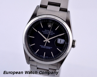 Rolex Datejust SS Black Dial
